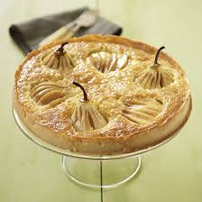 country homes and interiors recipes pear almond and cardamom tart recipe ideal home