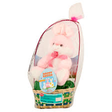 plush easter basket easter basket with plush animal primrose taffy item or