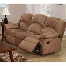 recliner sofa microfiber saddle 3 seater only