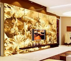 online shop 3d wall murals hd lotus carvings wall paper high end online shop 3d wall murals hd lotus carvings wall paper high end mural for tv sofa background wall papel de parede floral aliexpress mobile