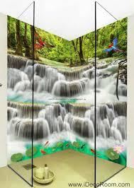 3d wallpaper waterfall birds fish lotus wall murals bathroom 3d wallpaper waterfall birds fish lotus wall murals bathroom decals wall art print home office decor