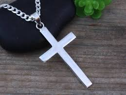 sterling silver large necklace images Mens necklace large sterling silver cross men sterling plain jpg