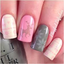 pastel fair isle nail art christmas nails youtube