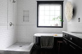 Bathroom White Brick Tiles - gray tile bathroom tags black and white bathroom tile black and