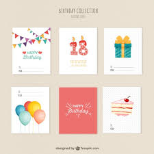 variety of birthday cards vector free download
