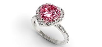 diamond heart ring pink heart sapphire engagement ring vidar jewelry unique