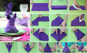 bunny rabbit home decor awesome how to fold table napkins 42 for home decor ideas with how
