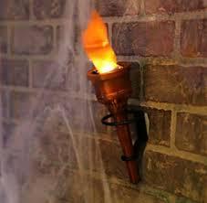 halloween wall covers amazon com pair 2 torch fake flame light halloween decor prop