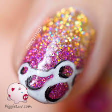 piggieluv glitter gradient nail art ft girly bits u0026 digital nails
