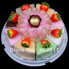 Buy Free Shiping Good Yummy Mousse Cake Design Soft Cotton Face