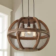 Chandelier Rustic Rustic Wooden Cage Chandelier Small Shades Of Light