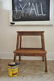 ikea hack bekvam step stool makeover liz marie blog