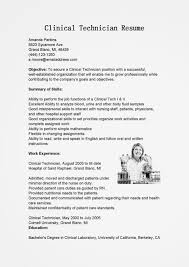 Resume Sample Lab Technician by Sample Resume Medical Technician