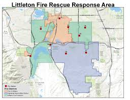 Colorado Area Code Map by Littleton Fire Protection District