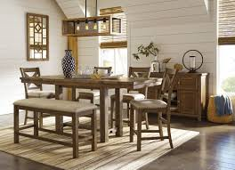 dining room table counter height moriville gray extendable counter height dining room set dining