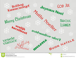 merry christmas languages stock photos images