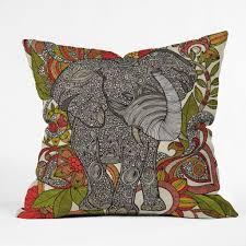 Livingroom Accessories Decor Grey Chevron Elephant Pillow For Modern Living Room