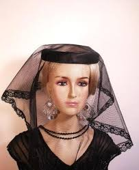 funeral veil black satin lace veiled mourning funeral hat women s designer hats
