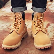 yellow boots s boots leather big yellow boots martin boots and