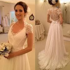 cheep wedding dresses cap sleeve see through lace top sheath cheap wedding