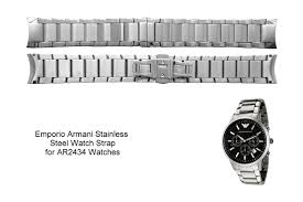 armani watches bracelet images Emporio armani watch bracelet for ar02434 and ar2448 watches jpg