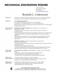 Example Of A One Page Resume by Mechanical Engineering Resume Junior Mechanical Engineer Resume