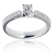 cathedral setting pave set solitaire diamond ring 0 30ct g i1 open cathedral setting