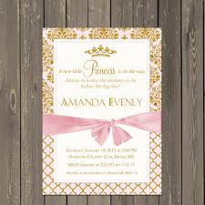 baby girl shower invitations princess baby shower invitation pink and gold princess shower
