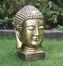 gold thai bust buddha statue garden ornaments s s shop