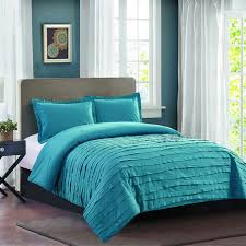 Ruffle Bed Set Avery Teal Ruffle Comforter Set Full Queen At Home At Home