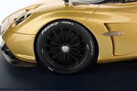 pagani huayra gold pagani huayra roadster 1 18 looksmart models