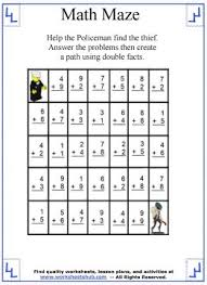 math maze addition worksheets