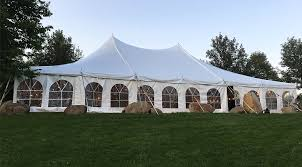 white tent rentals outdoor tent wedding at harvest preserve 40 x 60 white rope