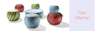 Patio Ottoman Patio Ottomans Serve As Seating And Tables Home
