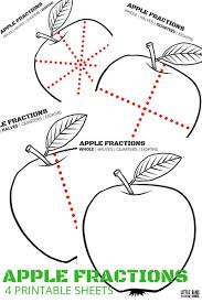 fractions math apple fractions math with real apples and free printable