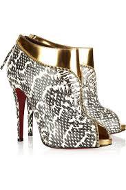 designer snake print red bottom pumps peep toe sexyshoeswoman com