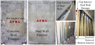 use of precast concrete walls for blast protection of steel stud