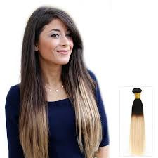 ombre hair weave african american 16 inch straight ombre remy indian hair weave two tone color 1b