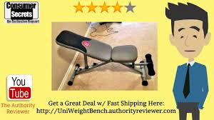 Weight Bench Sports Authority Review U0026 Sale Universal 5 Position Weight Bench Youtube