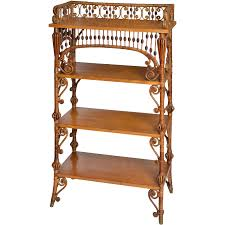 wakefield rattan company natural finish wicker etagere from