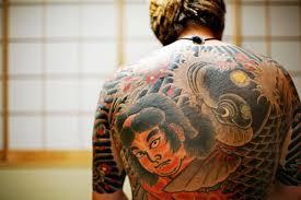 yakuza tattoos japanese gang members wear the culture of crime