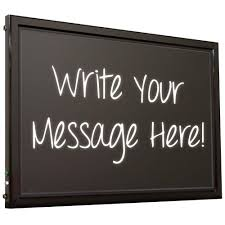lighted message board signs hy ko led message board lighted sign led mb1 the home depot