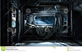 spaceship bedroom alien visit futuristic scene grey space station bedroom 59155018 jpg