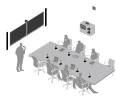 meeting room with microflex wireless