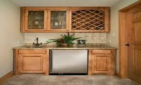 Basement Wet Bar by Wine Rack Over Refrigerator Basement Wet Bar Ideas Wetbar With