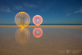 luminous aerial spheres of light by denis smith