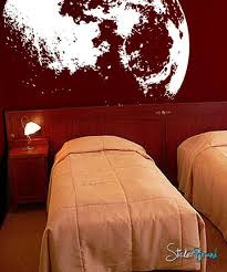 vinyl wall decal sticker moon flowing in space 523