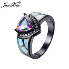 aliexpress buy junxin new arrival black aliexpress buy junxin bohemian girl rainbow ring