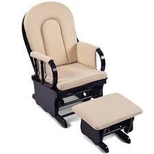 nursery chair and ottoman breastfeeding rocking glider chair w ottoman black buy nursery