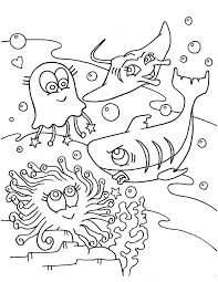 underwater animal coloring pages drawing competion class